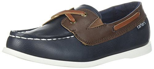 carter's Boys' Bauk Boat Shoe, Navy, 7 M US Toddler ()