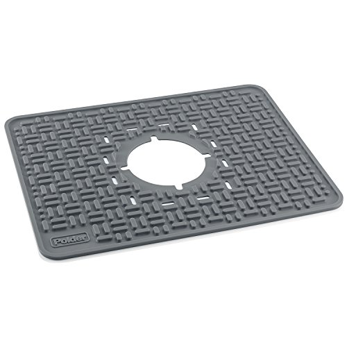 Polder KTH-685-430 SoftPrep In-Sink Mat, Protects Sink and Delicate Items, 16.5'' x 12.8'' x 0.17'', Gray by Polder