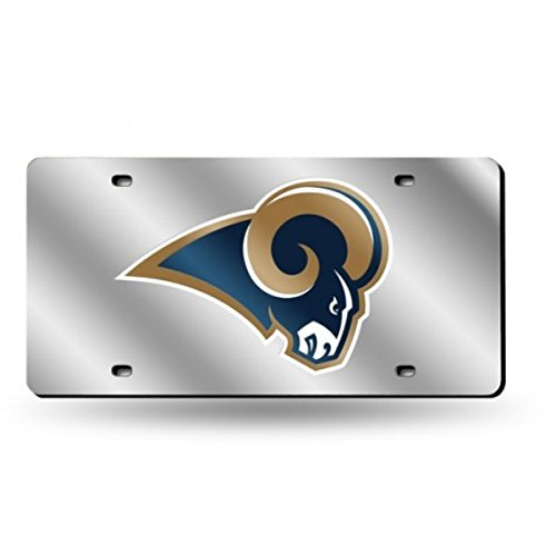 St Louis Rams Cover (St. Louis Rams NFL Silver Laser License Plate)