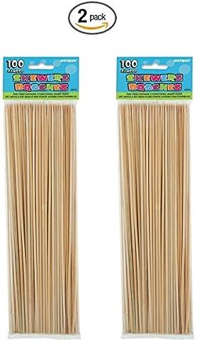 Bamboo Skewers, 100ct (2)