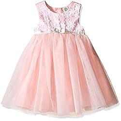 Little Me Toddler Girls' Daisy Mesh Dress, Pink/Multi, 4T