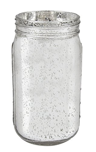 Craft Floral Mason Jar - Silver Mercury Glass, 3.5