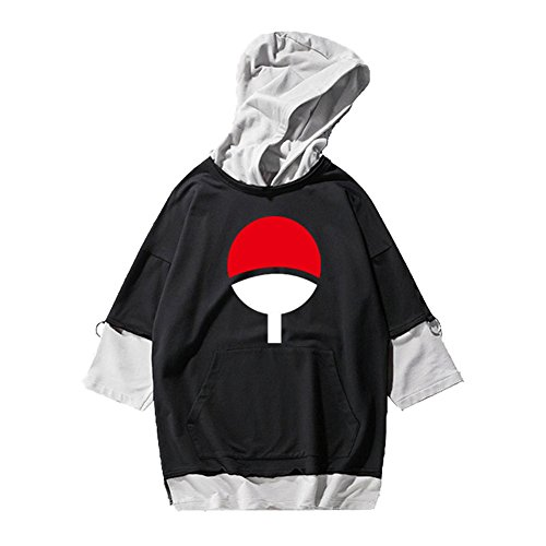 Gumstyle Anime Naruto Hooded T-Shirt Hip Hop Short Sleeve Pullover Tops 2-M by Gumstyle
