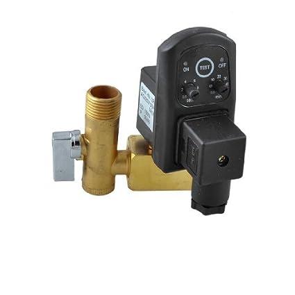 AC 220 V 50 Hz 1/2 16bar latón Compresor Válvula de purga W