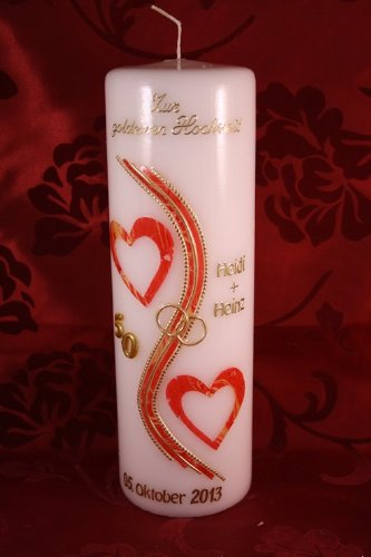 Party Dekoration Kerze Goldene Hochzeit Mit Namen Datum