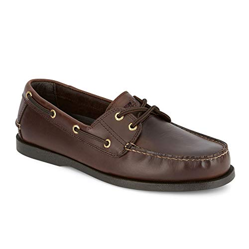 Dockers Men's Vargas Leather Handsewn Boat Shoe,Raisin, 10.5 M US (Mens Dress Shoes Leather Or Rubber Sole)