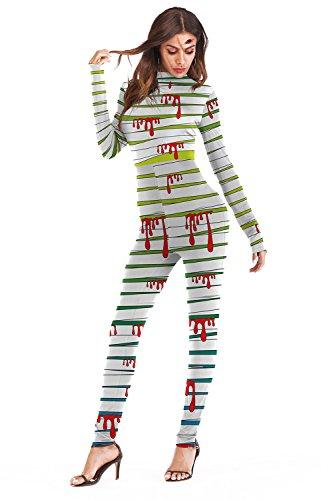 Timemory Women's Halloween Printed Spandex Skeleton Catsuit Swimwear S/M -