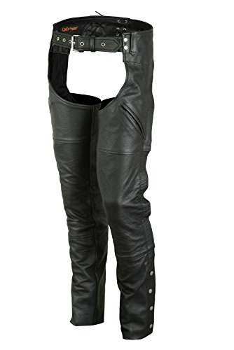 (DS404 Economy Unisex Deep Pocket Chaps - Motorcycle Chaps)