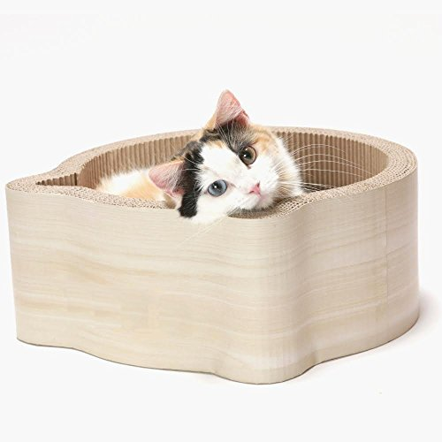 Cat1st Cat headed Cardboard Scratcher Cuddler product image