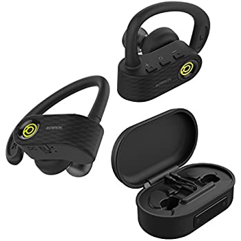 Rowkin Surge Charge: True Wireless Headphones, Bluetooth Earbuds, Stereo Hands-free Headset with Charging Case, Built-in Mic & Noise Reduction Earphones for Exercise, Sports, Running & iPhone (Green)