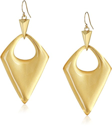Alexis Bittar Gold Ring (Alexis Bittar Pointed Pyramid Polished Gold Drop Earrings)