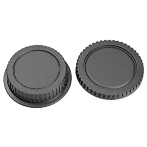 HOSPORT 10 Set Rear Lens Cover with Camera Body Cap for Canon DSLR SLR EOS EF