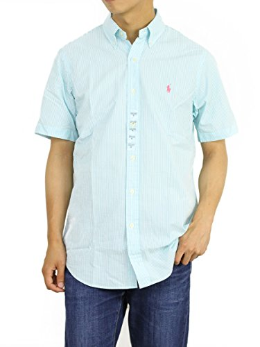 Polo Ralph Lauren Mens Short Sleeve Seersucker Sport Shirt (Hammond, Large)