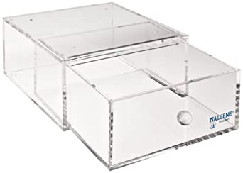 "Nalgene 5832 Acrylic All-purpose Stackable Drawer For Lab Organizer, 4-1/2"" Height x 9"" Width x 9"" Depth"