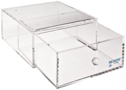 Nalgene 5832 Acrylic All-purpose Stackable Drawer For Lab Organizer, 4-1/2'' Height x 9'' Width x 9'' Depth by Nalgene