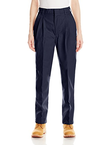 (Red Kap Women's Pleated Twill Slacks, Navy, 8x32)