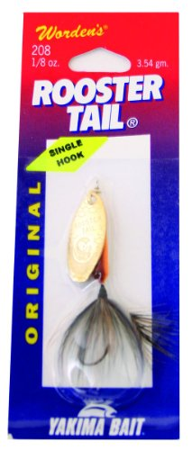 Wordens Rooster Tail (Wordens Single Hook Rooster Tail Lure, 1/8-Ounce, Brown Trout)