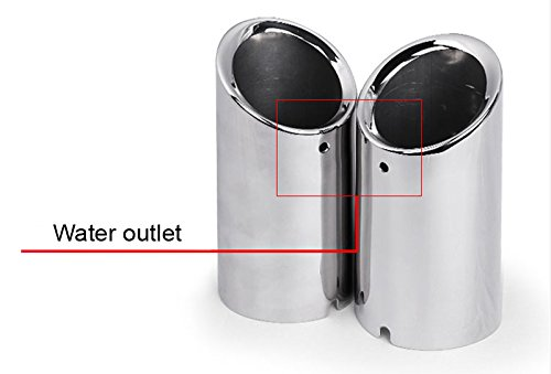 OEM 2pcs Stainless Steel Stainless Steel Curved Exhaust Muffler Tail Pipe Tip Tailpipe Extension Pipes Trim Custom Fit For VW-Passat-CC 2009 2010 2011 2012 2013 2014 2015 2016 2017 2018