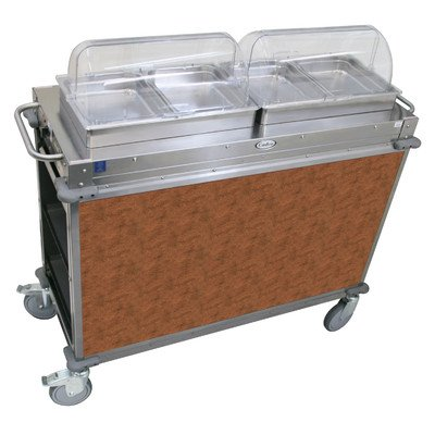 """Mobile Hot Buffet Cart Size: 51"""" H x 52.75"""" W x 20.75"""" D, Color: Flame Soapstone Red"""