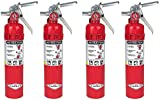Amerex B417 SDHQOP, 2.5lb ABC Dry Chemical Class A B C Fire Extinguisher, with Wall Bracket, 4 Pack