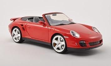 Porsche 911 turbo Descapotable, rojo, Modelo de Auto, modello completo, Mondo Motores 1:18: Motormax: Amazon.es: Juguetes y juegos
