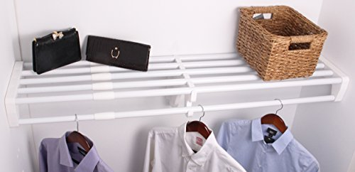 EZ Shelf Expandable Closet Shelf & Rod with No Brackets, 40