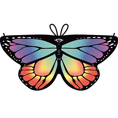 Shireake Baby Cartoon Butterfly Wings Costume Play Butterfly Wings for Kids Monarch Wings (Fluorescence Rainbow) ()