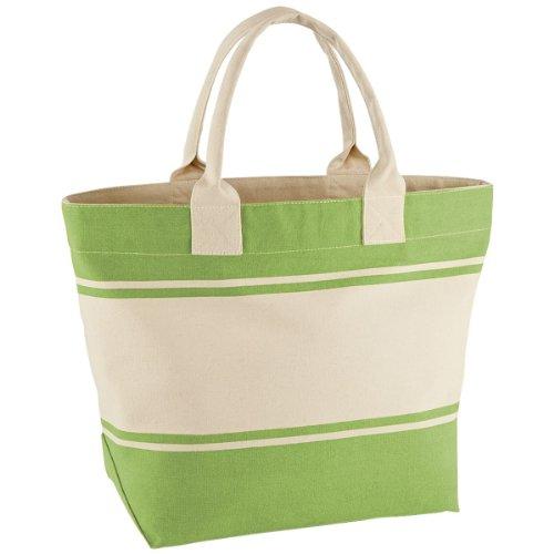 Quadra QD26-Borsa in tela, colore: verde/naturale