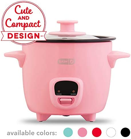 Dash DRCM200GBPK04 Mini Rice Cooker Steamer with Removable Nonstick Pot, Keep Warm Function & R