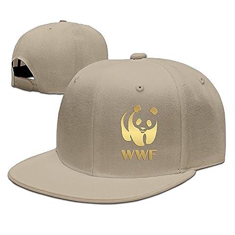 Gold Wwf Panda Symbol Baseball Flat Cap Natural (Wwf Cheetah)
