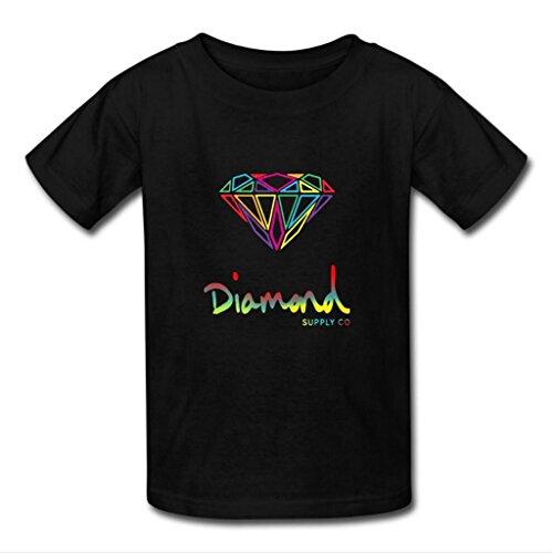 Nesth Diamond Supply Co Men's Short Sleeve Tee shirt Customized (USA Size) M Black
