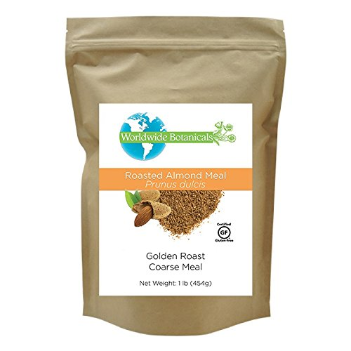 Worldwide Botanicals Roasted Almond Meal, Unblanched, Certified Gluten-Free, Vegan, Paleo 1 lb. (454g) (Best Roasted Almonds Recipe)