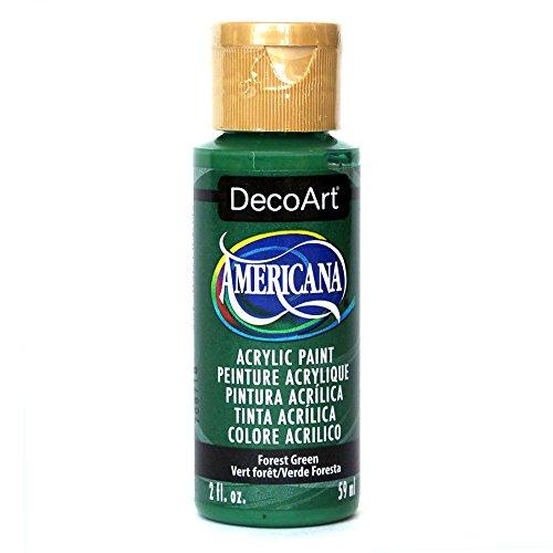 Green Dark Paint Acrylic - DecoArt Americana Acrylic Paint, 2-Ounce, Forest Green
