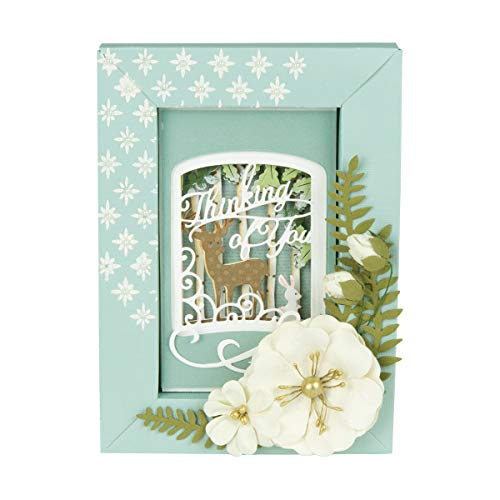 Layered 25 Cuts Die - Spellbinders S5-387 Etched/Wafer Thin Dies Shapeabilities Layered Thinking of You Woodland Scene Metal