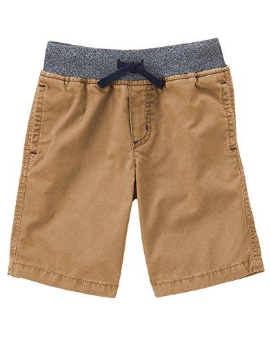 Gymboree Big Boys' Camp Short, Dexter Tan, 7 Boys Elastic Waist Shorts