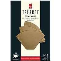 Trescol Kahve Filtresi 2 Numara (Küçük Boy) 100 'lü Paket (Naturel Kağıt)