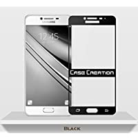Case Creation Galaxy Note 5 Color Tempered Glass,Screen Guard Front Protector Full Edge Temper for Samsung Galaxy Note5 (Black)