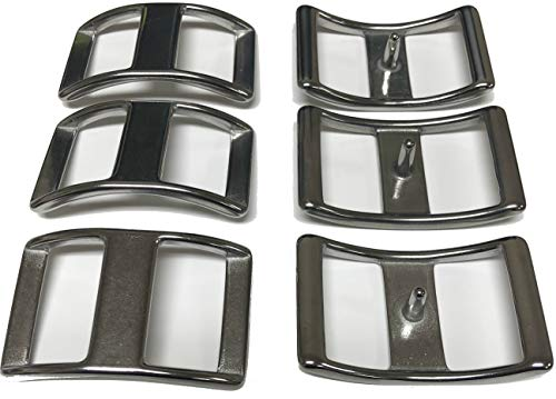 "Multi-Pack of Conway Buckles, 100% Stainless Steel, Pack of 6, Rust-Free, Ideal for Use On Pack Saddles and Tack, Or Any Application That Requires Strap Length Adjustment (3/4"")"