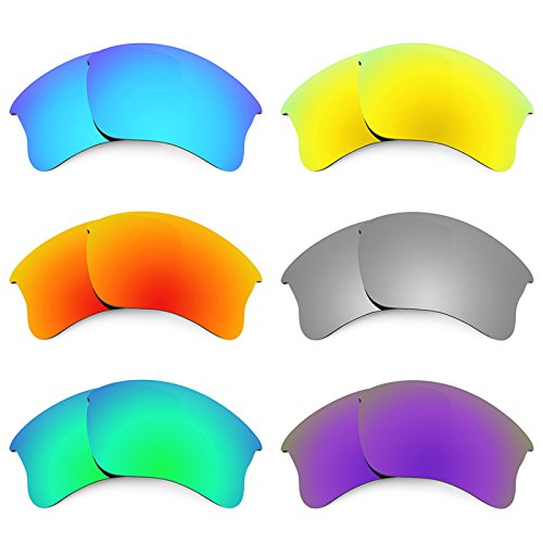 Revant Replacement Lenses for Oakley Flak Jacket XLJ 6 Pair Combo Pack - Flak Xlj Lenses G30 Jacket