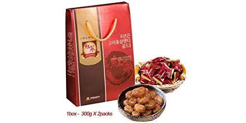 Korea RED Ginseng Candy Gold 6 Years Old/Health Food/Gift/Parents/Grand  Parents/Section of Red Ginseng
