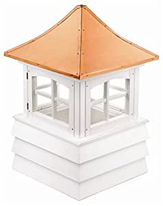 "85"" Handcrafted ""Guilford"" Copper and Vinyl Roof Cupola"