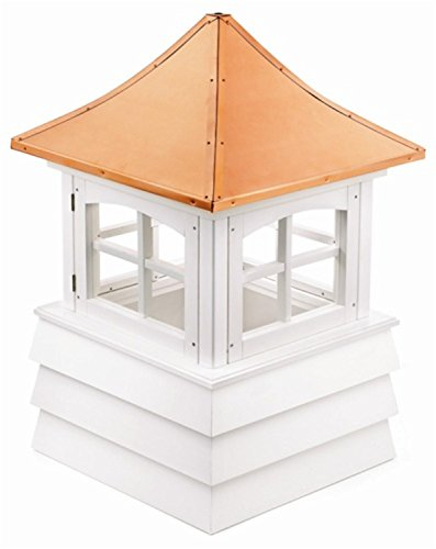 129'' Handcrafted ''Guilford'' Copper and Vinyl Roof Cupola by CC Outdoor Living