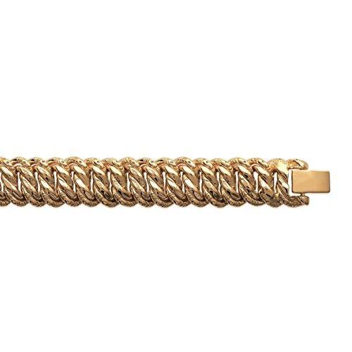 Bracelet plaqué Or Femme - Long:19cm / Larg:12mm - Plaqué or