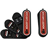 Memory Card Case,chuanq Mini SD Card Case&Holder, Micro SD/TF Card Storage Cases- 3 Storage Blades- Fits 2X SD, 2X SD, 1x SD and 2X Micro SD Cards- Swiss Army Knife Shape- Ideal for Drones & Cameras
