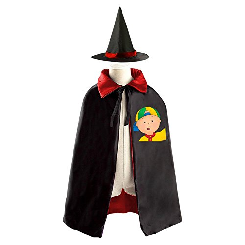 Caillou Logo Kids Halloween Party Costume Cloak Wizard Witch Cape With (Funniest Easy Halloween Costumes)