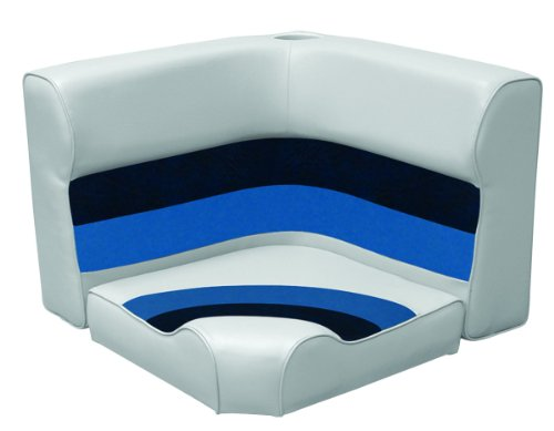 (Wise Pontoon Radius Corner Section Medium Corner Seat (Grey/Navy/Blue))