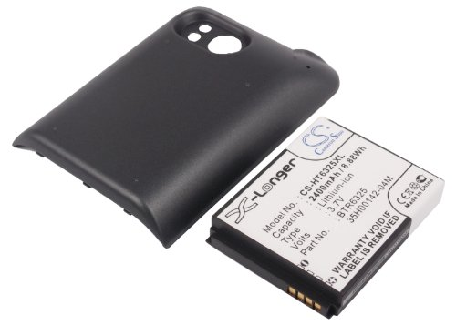 Pda Battery Pack - 2400mAh PDA Battery For HTC Thunderbolt, Thunderbolt 4G, ADR6400