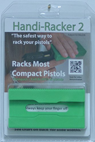 Handi-Racker 2: Safest Way to Rack Your Pistols, Green, Compact (Best Compact Semi Automatic Pistol)