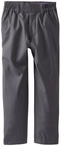 Dress Pants Gray Charcoal (Isaac Michael Little Boys' Little Solid Dress Pants, Charcoal, 4)