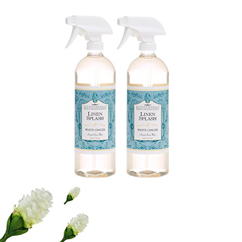 Scentennials Linen & Room Spray White Ginger 32oz - A Must Have for All Your linens, Laundry Basket or just Spray Around The House.